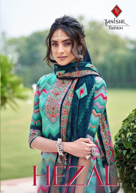 Tanishk Fashion Hezal Digital Printed Velvet Dress Material Catalog