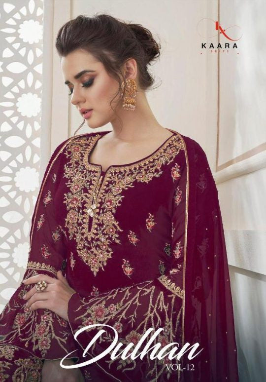 Kaara Suits Dulhan Vol 12 Blooming Georgette Designer Salwar Kameez Catalog