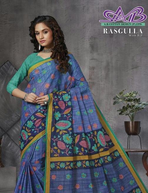 A B Cotton Design Rasgulla Mul Mul Cotton Fancy Saree Catalog - theempirehubs