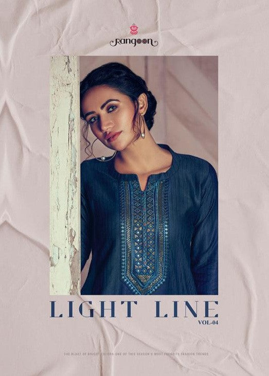 Rangoon Light Line Vol 4 Linen Silk Kurti Catalog