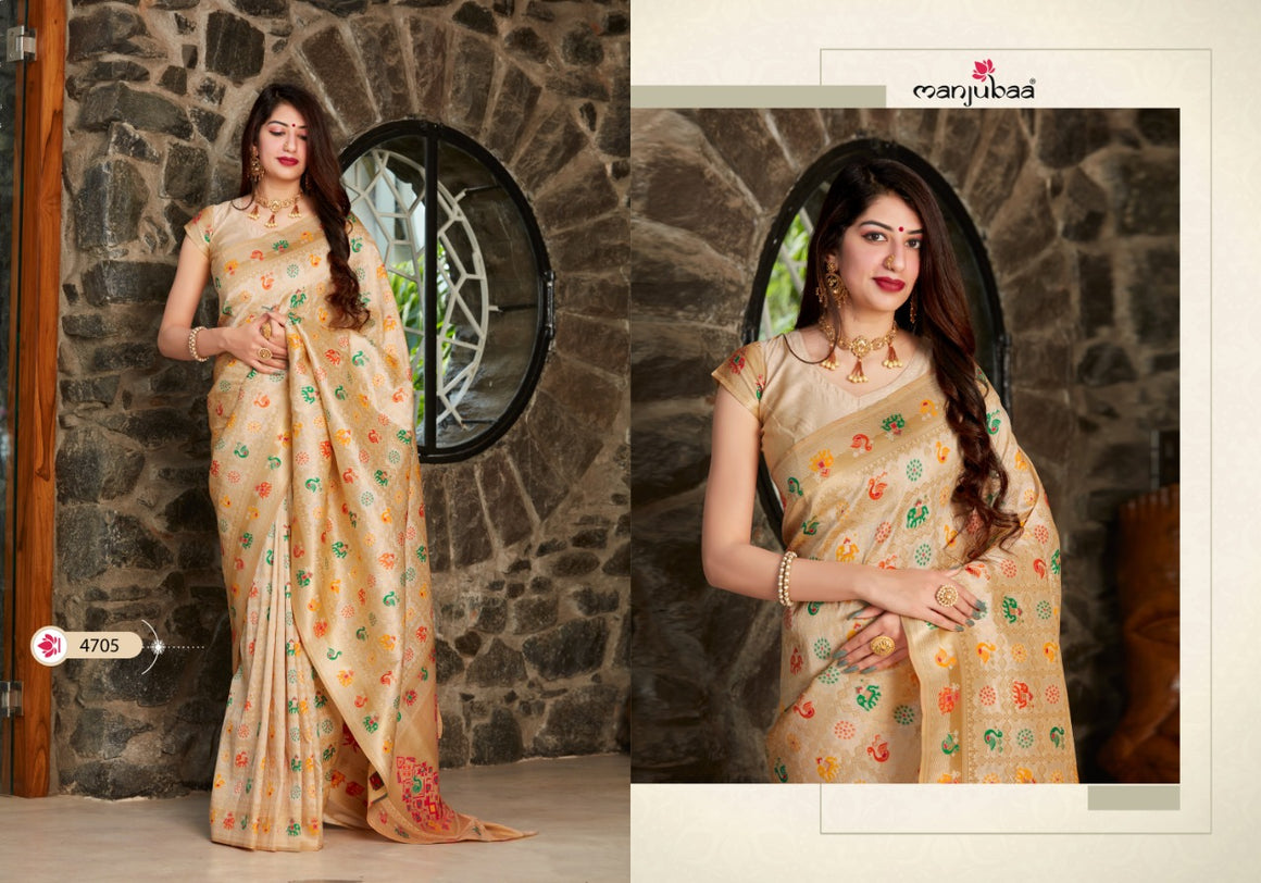 Manjubaa Mohini Silk Festive Wear Silk Sarees Collection