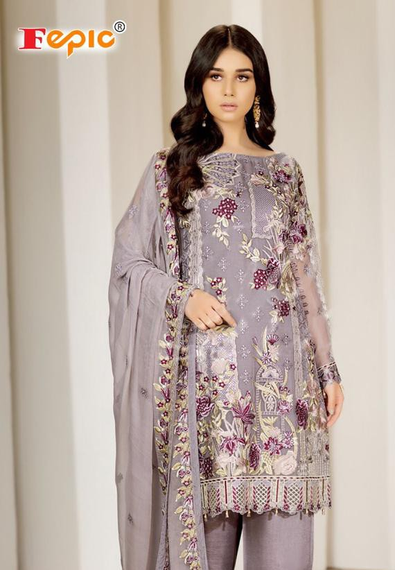 FEPIC ROSEMEEN C 1108 GEORGETTE REGAL LOOK SALWAR SUIT SINGAL