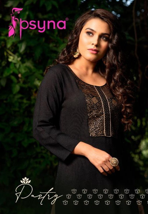 PSYNA PASTRY RYON ATTRECTIVE LOOK AND COLOURS KURTI CATALOG
