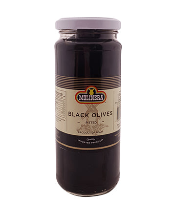 Molinera Black Pitted Olives 330g