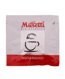 Caffé Musetti Paradiso (Silver) Easy Serve Espresso (ESE) 85% Arabica Coffee Pods, 44mm