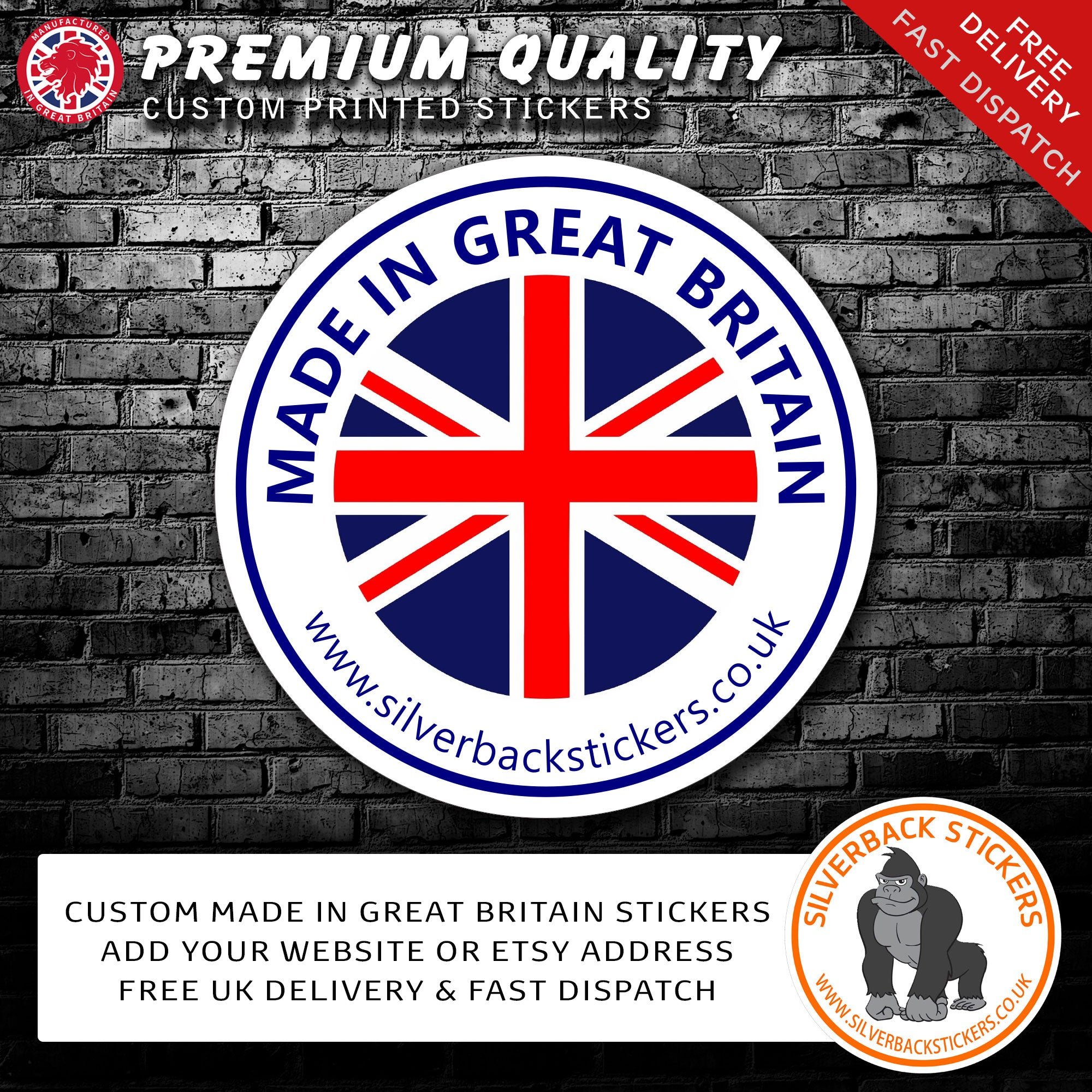 made in Great Britain stickers