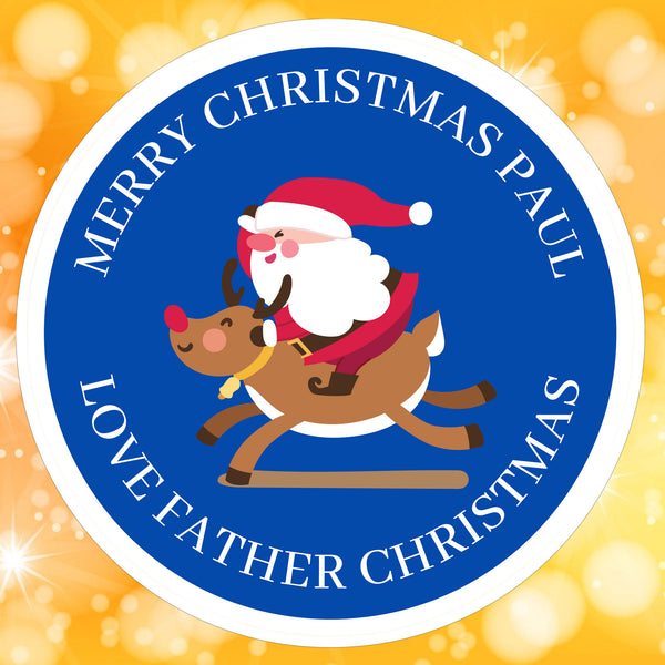 Blue santa sticker
