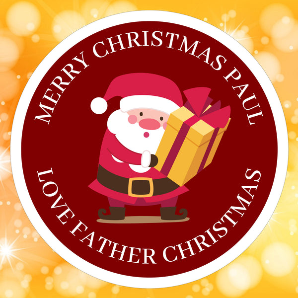 Burgundy Santa Sticker