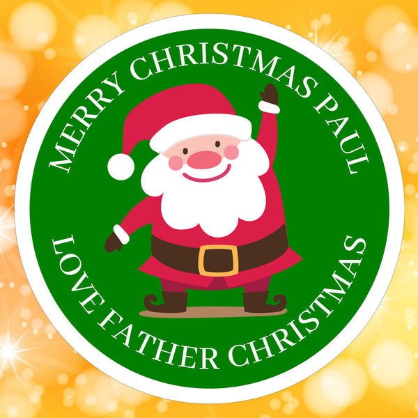 Green Santa Sticker