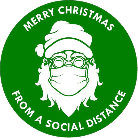 green wishing you a very happy socially distanced Christmas