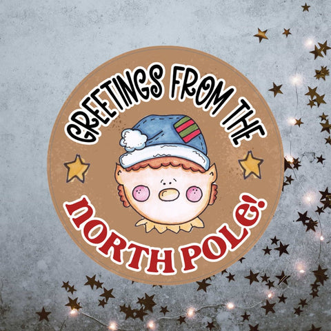 Greetings from the North Pole christmas stickers