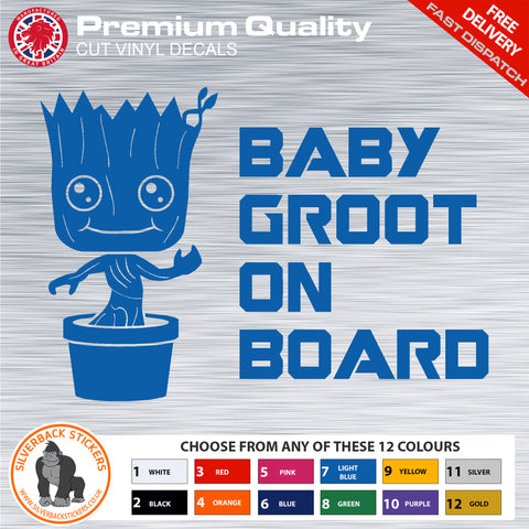 Baby on board car sticker | Baby Groot on board car sticker | Baby Groot vinyl Decal | Baby Groot bumper sticker
