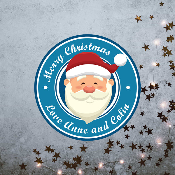 Personalised Christmas Stickers. personalise with your own text | Santa personalised Christmas Stickers