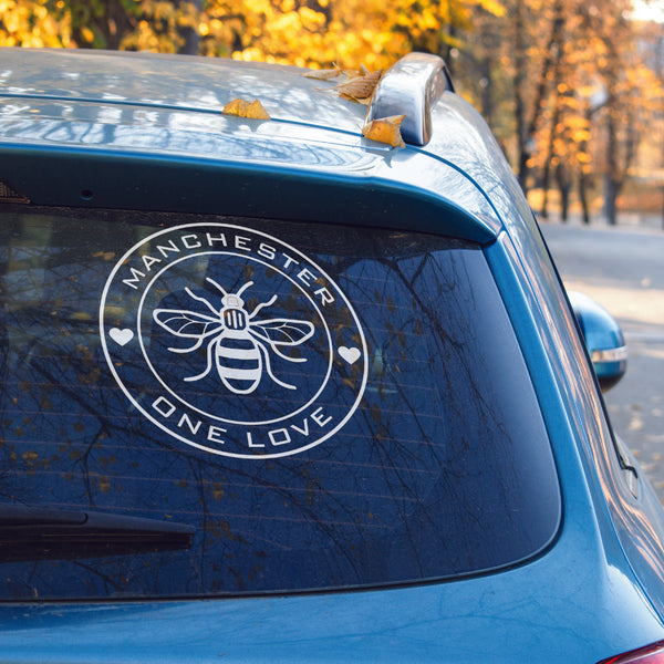 Manchester one love vinyl decal - Manchester worker bee - Manchester bombing