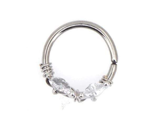 Piercing-Dealer Argento Rook Piercing <br> Placcato in Oro
