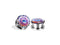 Piercing-Dealer Multicolore / 6mm Plug Orecchio <br> Psycho