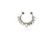 Piercing-Dealer Multicolore Piercing Finto Naso <br> Punte e Diamanti