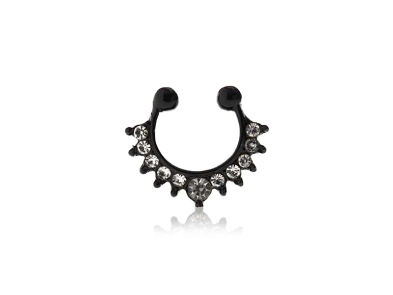 Piercing-Dealer Nero Piercing Finto Naso <br> Punte e Diamanti