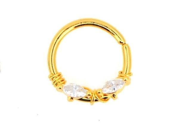 Piercing-Dealer Oro Rook Piercing <br> Placcato in Oro