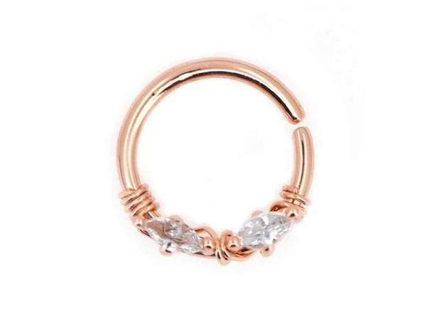 Piercing-Dealer Oro Rosa Rook Piercing <br> Placcato in Oro