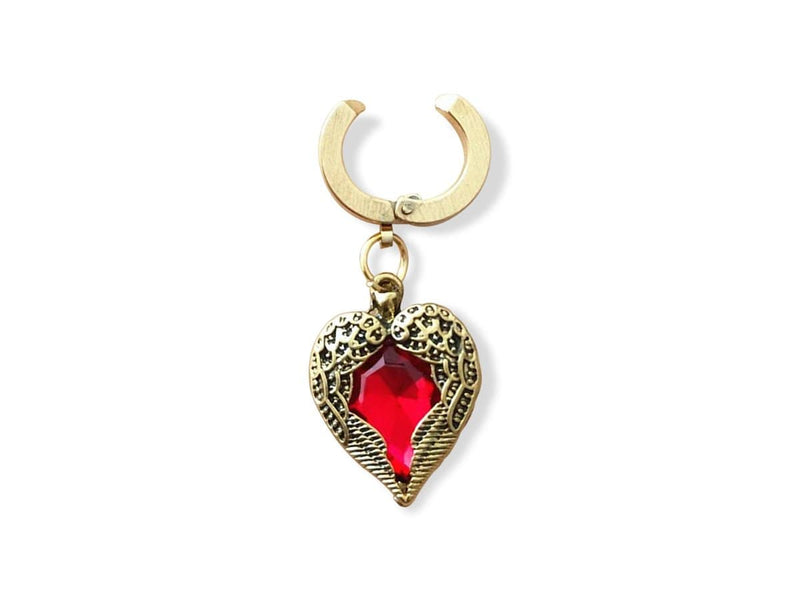Piercing-Dealer Rosso Piercing Finto Ombelico <br> Cuore Rosso