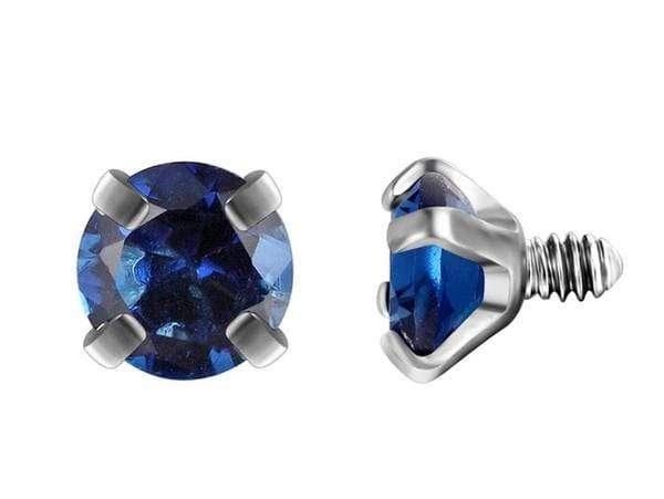 Piercingseo Blu Scuro / 10mm Piercing Sopracciglio <br> Diamanti