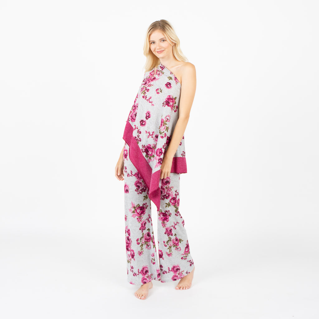Paula Pant and Coverup Set in Heather Rose Floral