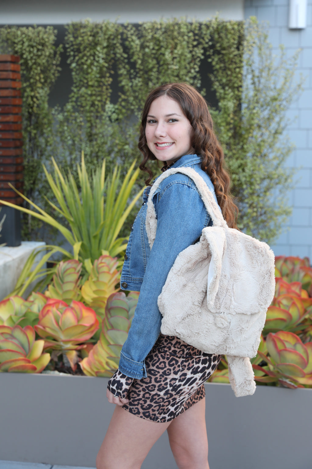 California Faux Fur Backpacks