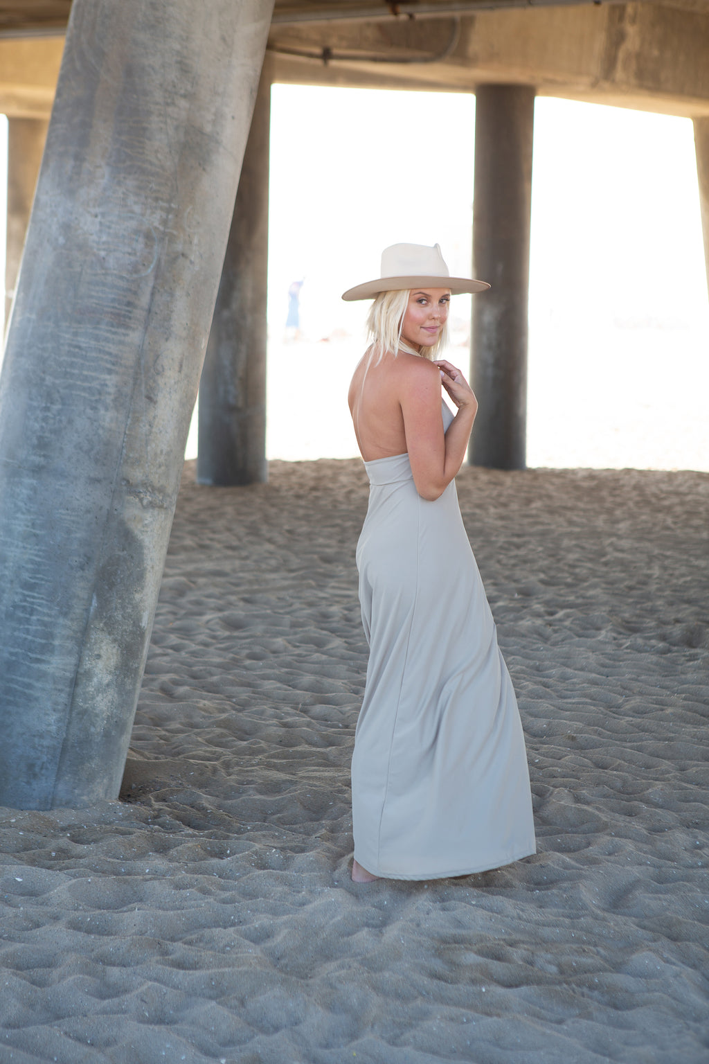 Beach Sand Solid Maxi Dress