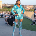 Angel Blue Boyfriend Shirt Dress