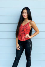 Palm Springs Cami in Red Coral Python