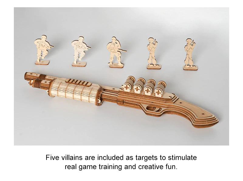comes with 5 practice targets for creative fun