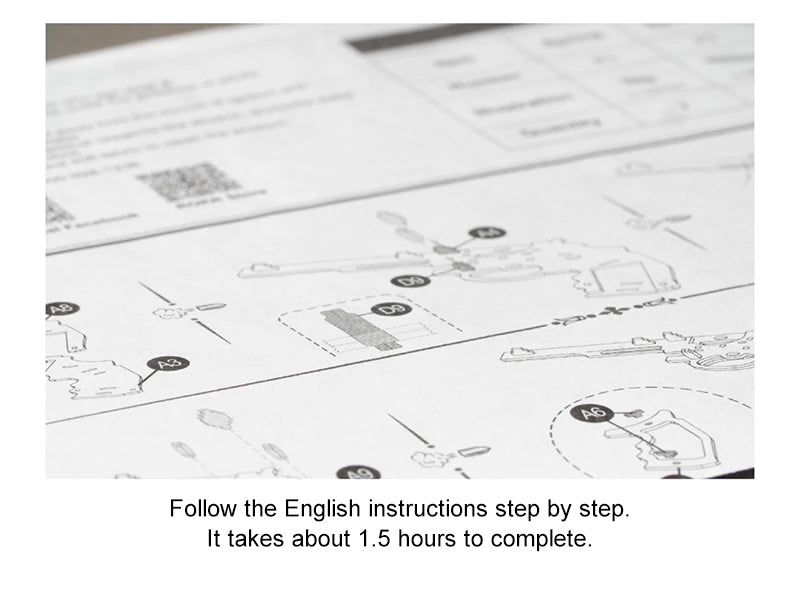 follow the english instructions