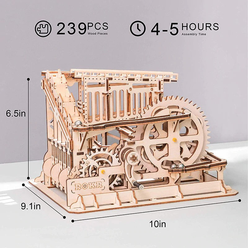 cog coaster takes 4-5 hours to assemble