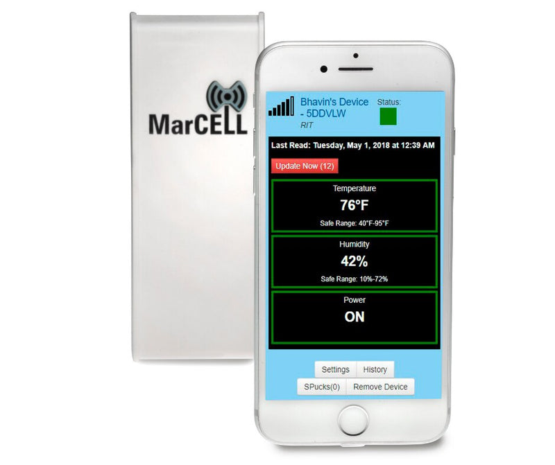 MarCell M2 Cellular Power Failure and Temperature Alarm