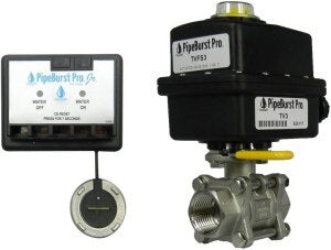 Pipeburst Pro Jr. Leak Sensor and Shutoff System