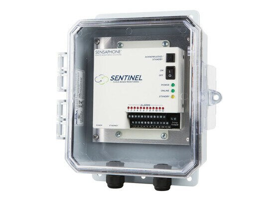 Sensaphone Sentinel SCD-1200CD Web-based Monitoring in NEMA4X Enclosure, Clear Door