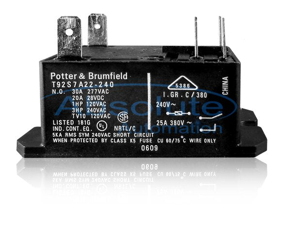 240VAC DPST Relay, UL and CSA Approved