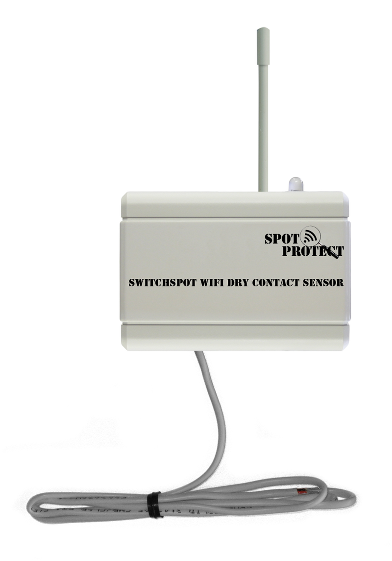 Spotprotect SwitchSpot WiFi Dry Contact Sensor with Email and Text Alerts