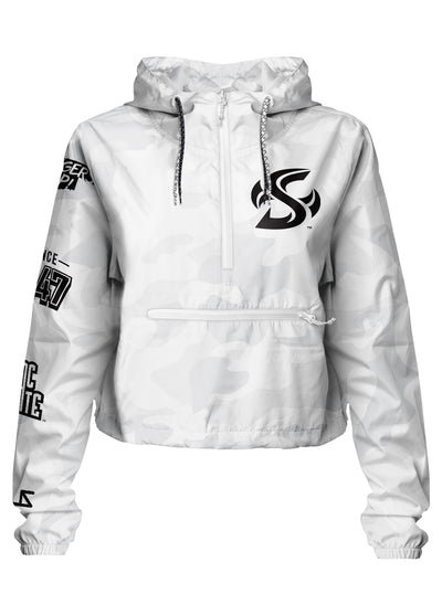 Sac State - Project: Grayscale Packable Crop Windbreaker