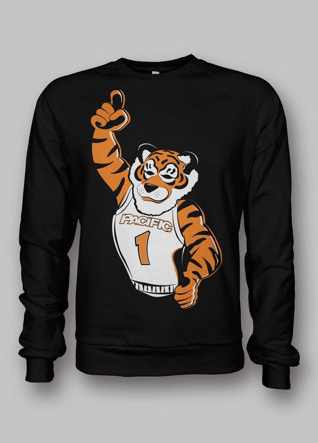 University of the Pacific Tigers #1 Tiger Powercat T-shirt by Zeus Collegiate