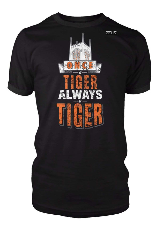 University of the Pacific Tigers Always A Tiger Burns Tower T-Shirt by Zeus Collegiate