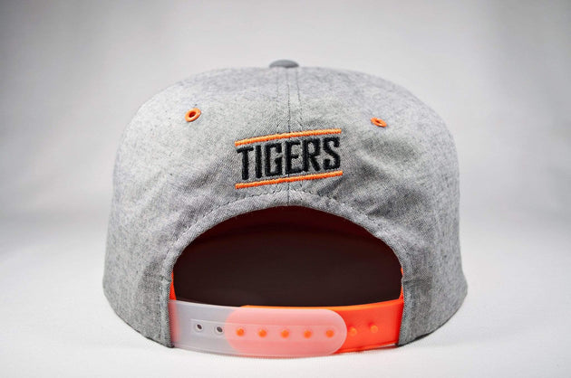 University of the Pacific Tigers Grey Matter 3M™ UOP Snapback [Limited Edition] Cap Hat by Zeus Collegiate