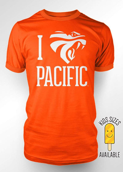 University of the Pacific Tigers I Love Pacific: Powercat T-shirt by Zeus Collegiate