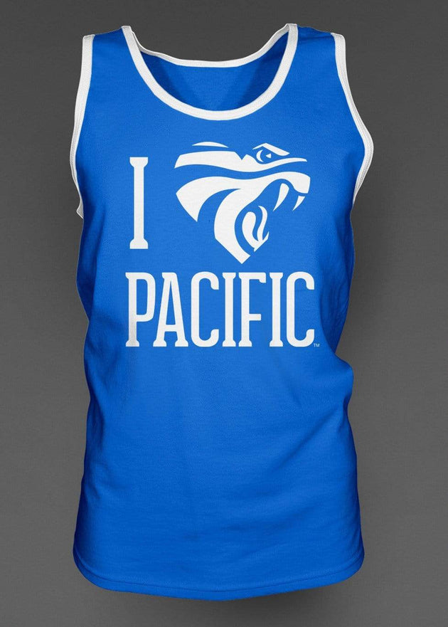 University of the Pacific Tigers I Love Pacific: Powercat Tank Top by Zeus Collegiate