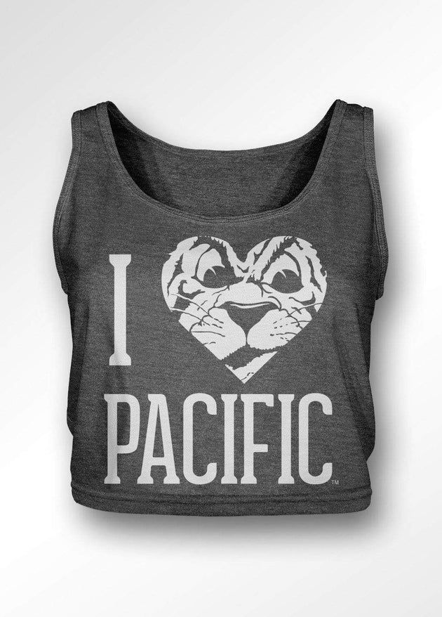 University of the Pacific Tigers I Love Pacific: Tommy Tiger Boxy Tank Top by Zeus Collegiate
