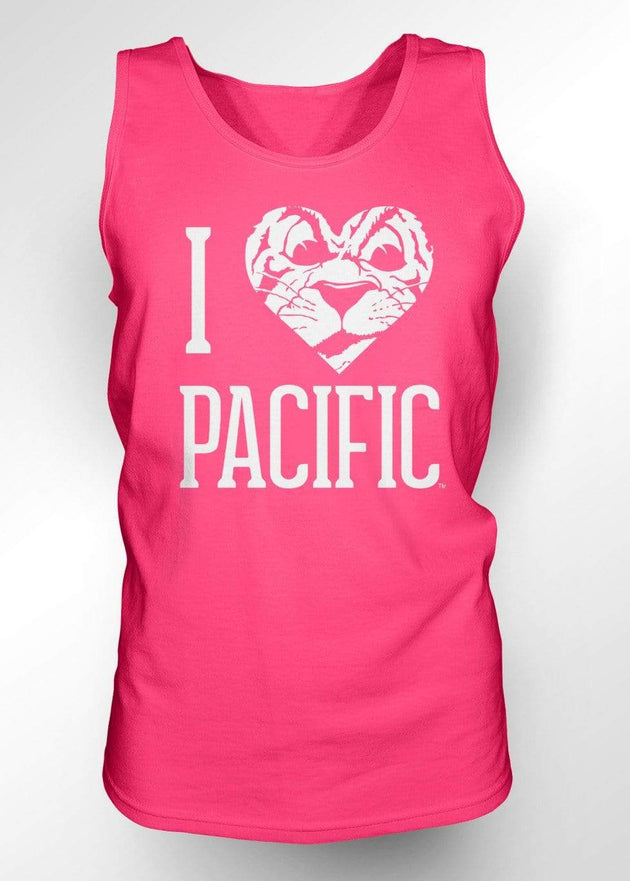University of the Pacific Tigers I Love Pacific: Tommy Tiger Tank Top by Zeus Collegiate
