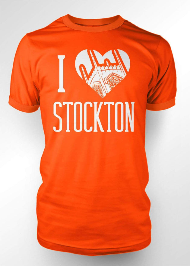 University of the Pacific Tigers I Love Stockton: Burns Tower T-shirt by Zeus Collegiate