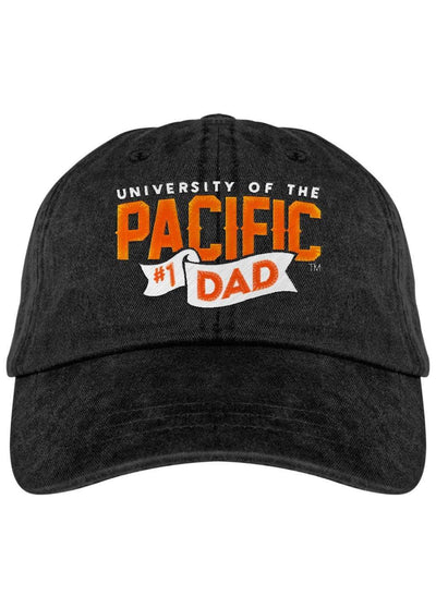 University of the Pacific Tigers Pacific #1 Dad Fadeaway Cap Hat by Zeus Collegiate