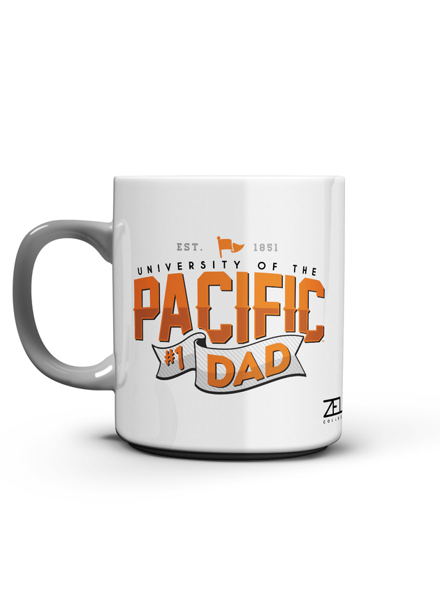 University of the Pacific Tigers Pacific #1 Dad Mug by Zeus Collegiate